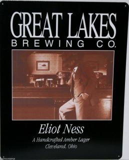Great Lakes Beer Elliot Ness A Very Good Craft Lager Brew Metal Sign