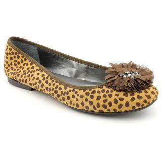Enzo Angiolini Camson Womens Size 11 Brown Animal Print Leather Flats