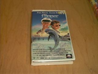 Flipper VHS 1996 Paul Hogan Elijah Wood Clamshell