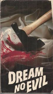 Dream No Evil VHS Edmond OBrien Brooke Mills Horror
