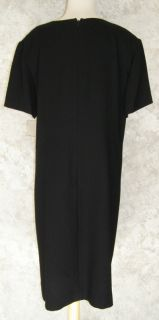 Elisabeth Liz Claiborne Black Embroidered Beaded Dress 18 New Evening