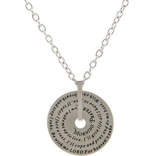 Jewelry® Stainless Steel Morning Prayer Disc 22 Neck