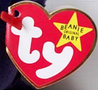 Princess Diana Beanie Baby Bear 2nd Edition 2 1997 PE
