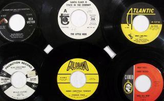 RARE Xmas Rock Doo Wop Novelty Country Elvis Lot of 26 Christmas 45S