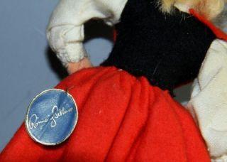 Vtg Ronnaug Petterssen Cloth Bride Doll Norway Foil Hang Tag National