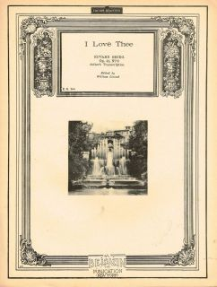 Love Thee Edvard Grieg Op 41 No 3 Edited by William Conrad Sheet