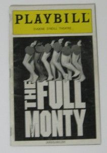 VINTAGE PLAYBILL EUGENE ONEILL THEATRE THE FULL MONTY 2001