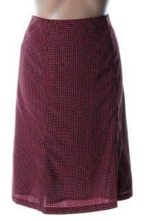 Ellen Tracy New Red Pattern Tea Length A Line Skirt 4 BHFO