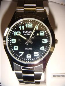 Store New Old Stock Mens Wrist Watch Embassy by Gruen Stainless