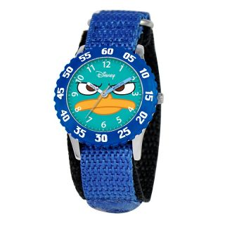 Disney Agent P Kids Time Teacher Watch with Rotating Bezel  Blue S