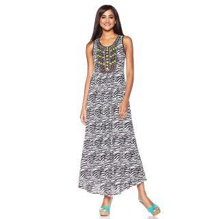 beaded zebra print maxi dress note customer pick rating 33 $ 39 98 s h