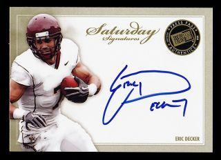 2010 Press Pass Eric Decker Minnesota Gophers Autograph Rookie RC