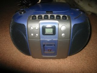 EMERSON Portable Stereo Radio Cassette CD Player Model #PD6548BL