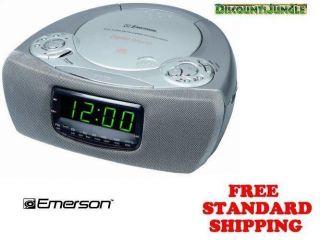 Emerson CKD9905 CKD 9905 Dual Alarm Clock Radio CD Player Silver