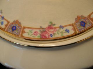 Edwin M Knowles China Gravy Boat with Under Plate Pink Roses