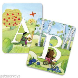 eeBoo All Around The Land Alphabet Cards Wall Art New