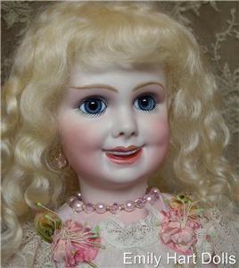 203 Antique Reproduction Bisque Doll Head Only by Emily Hart
