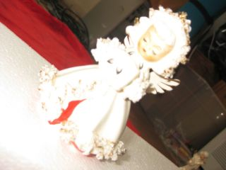 Vintage Holt Howard Spagetti Ermine Angel Candleholder Japan