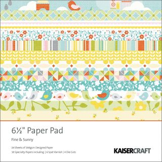Kaisercraft Fine and Sunny Paper Pad 6 1/2 x 6 1/2   40 Sheets