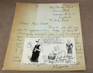 Maurice Hall 39 Original Comic Art Pen Ink Illustration Drawing