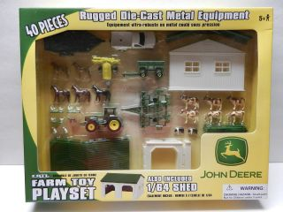 ERTL 164 *JOHN DEERE* 40 Pieces FARM TOY PLAY SET *Tractors Truck