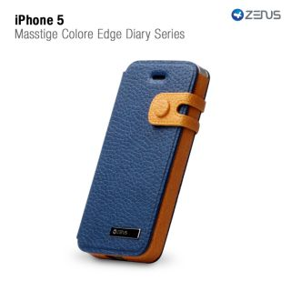Navy Two Tone Protective Case Wallet for iPhone 5 Diary Series Credit