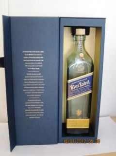 Walker Blue Label Scotch Whisky Whiskey Empty Bottle w Box