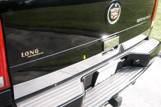 02 06 Cadillac Escalade Tailgate Rear Deck Truck SUV Chrome Trim New