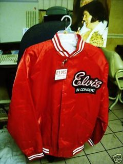 Elvis Presley Concert Tour Jacket Size Large w TCB