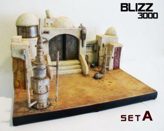 Custom Star Wars Tatooine Mos Eisley Cantina diorama scene legacy set