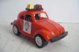 Mexican VW Beetle D F Security Police Plastic Toy Car Made in Mexico