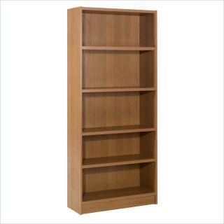 essentials 5 shelf tall wood bookcase 216688 the nexera essentials