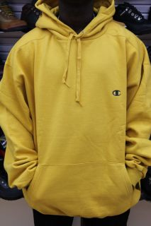 Champion Yellow High Quality Thick Double Knit Pull Over Super Hood