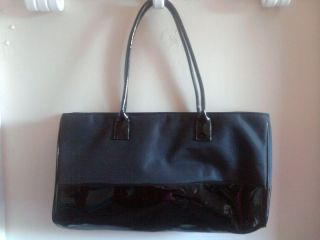 Estee Lauder Black Handbag Purse Makeup Bag Large Cosmetic Bag Makeup