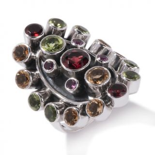 multigemstone sterling silver oval cluster ring rating 2 $ 58 74 s