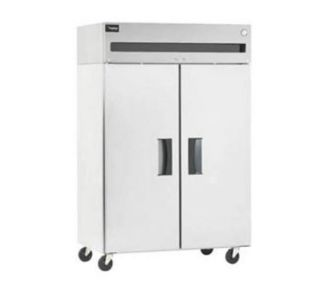 Reach In Refrigerator, 2 Section/Solid Doors, Energy Star, 43.5 Cu Ft