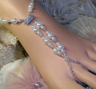 Fantasy Wedding Pearl Barefoot Jewelry Sandals Beach