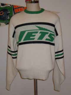 vintage NEW YORK JETS CLIFF ENGLE SWEATER LARGE