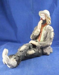 Emmett Kelly Jr Bedtime Figurine Signed Item 9830
