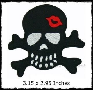 Rockabilly Skull Emo Applique Embroidered Patch BP050