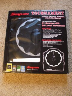 Snap on Electronic Dart Board Game Cabinet Style New in Box