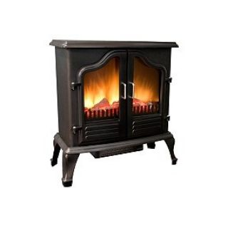 Electric Stove Heater Classic Fireplace Design Space Heater