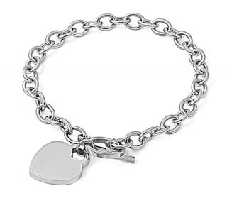 Personalized Quality Heart Charm Bracelet Free Engraving
