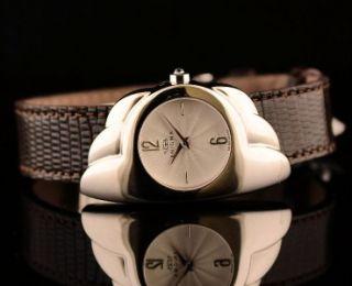 Brand New Enigma by Bulgari Ladies Quartz Wrist Watch   Brown Leather