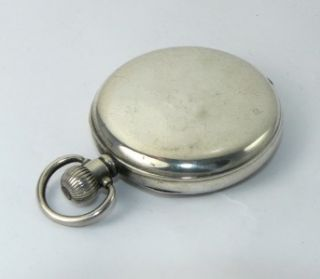 MENS SILVER THOMAS RUSSELL & SONS OPEN FACED POCKET WATCH F.W.O
