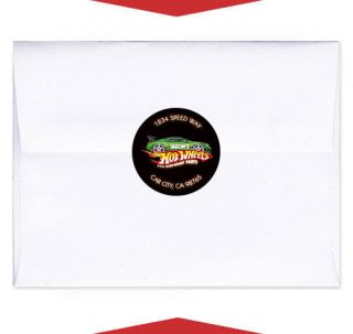 24 Hot Wheels Birthday Invitation Envelope Seals