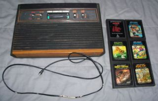 Used Atari 2600 Console System with 6 Games 1 Day Only