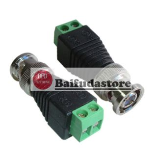 Coaxial Video Balun Plus 2 1mm Male Female DC Power Connector