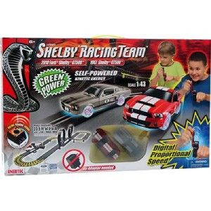Enertec Shelby Racing Team Self Powered Road Race Set 2 Cars Brand New