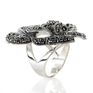 Jewelry Rings Gemstone CL by Design Bold Marcasite Flower